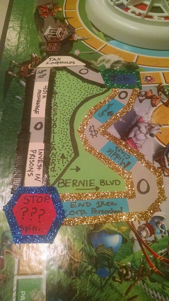 """Close up of """"Republican Road"""" & """"Bernie Boulevard"""""""